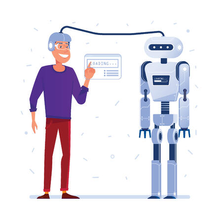 A Robot/chatbot pretending to be human in a conversation. This is an incorrect way of using a chatbot.