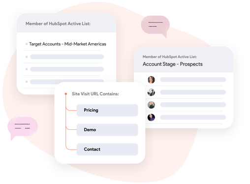 Pulling account lists from Hubspot to identify your existing customers with name, company and location.