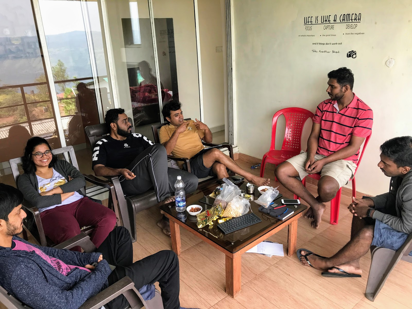 insent team discussions during 2019 retreat